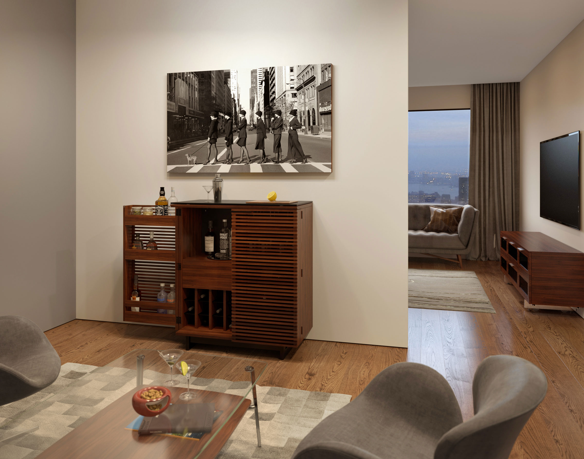 marina furniture cupboard credenzas consoles products bdi b view media and